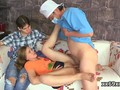 doctor assists with hymen checkup and defloration of virgin cutie  feature