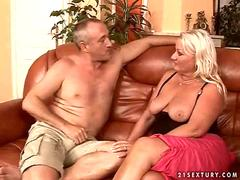 Fat granny gets her tight asshole fucked