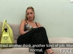 Big tits blonde from Hungary gets fucked by an agent