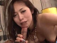 An Yabuki looks dashing with her pussy stretched well