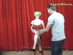 Masked BUSTY sex queen at photoshoot