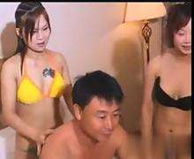 Sexy Asian chick in a bikini gets massaged and fucked