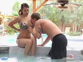 Brooke Gets Her Pussy Licked In The Jacuzzi