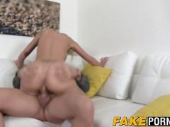 Stunning blonde Anastasia takes casting agents hard cock