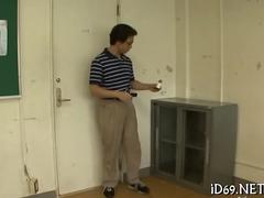 Japanese teens change in locker room while invisible dude stares