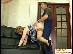 Mature Older Woman with Younger Lover 02