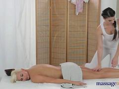 massage room - Mona and Tracy have a lesbian one on one