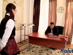 Saucy schoolgirl gets fucked really hard
