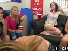 Hot college girls shows everybody what a slut she is