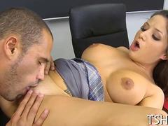 eating her wet pussy out and she cums so strong