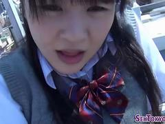 Asian schoolgirl solo toy