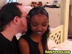 Ebony amateur fucking oldman after oral