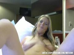 Step mom masturbating for me with daddy on the phone