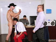 Cock hanging out of trousers gay porn Lances Big Birthday Surprise