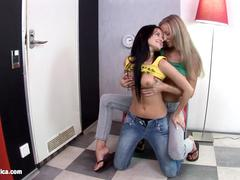 Bea and Lora lesbians filmed by Sapphic Erotica