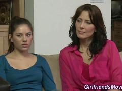 Brunette milf tribs teen