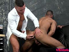 Muscluar spanish hunk toyed in ass until cum