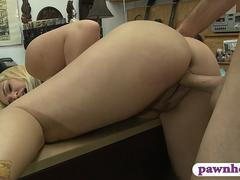 Cranky big ass woman nailed by pawn dude in his office