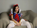 Snow White Cosplay Vibrator Masturbation