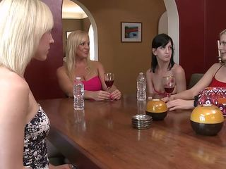 hot blondes and a brunette playing with pussies
