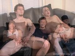 5 Curious Boys Jacking and Sucking
