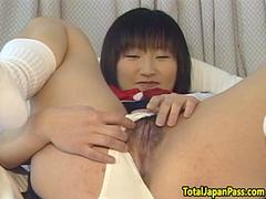 Oriental schoolgirl screwed in closeup