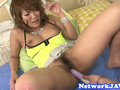 Busty japanese milf pleasured with toys