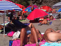 sexy beach nudist women putting on lotion caught by spy cam clip clip 1