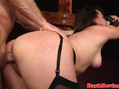 Bigass sub choked by maledom before roughsex