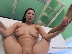 Busty Asian babe bangs doctor