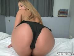 Sexy euro girl Sofi Goldfinger rides big cock with her bushy pussy