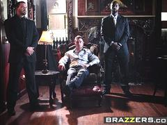 brazzers   mommy got boobs   ava addams rikki six and james deen    two hungry mouths on his dick