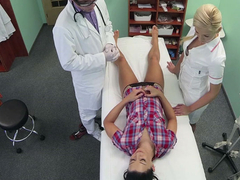 Hot Adela gets doctors big cock therapy