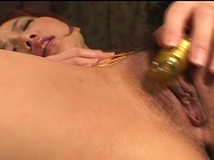 Rena is an Asian temptress fingering her clit