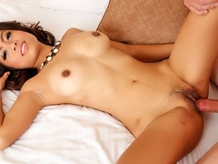 Thai slut is on top of a cock making it shoot a load