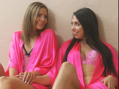 Sexy lebian step cousins Shyla Ryder and Taylor May